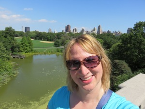Selfie in the city, day one in Central Park